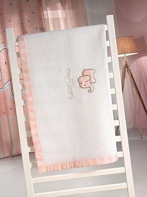Κουβέρτα Africa Pink Πικέ 110x150