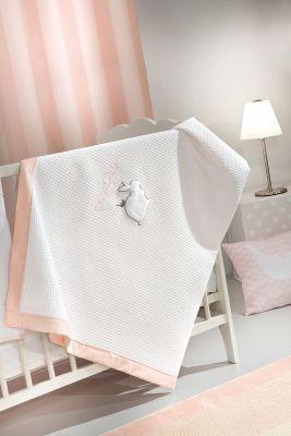 Κουβέρτα Lapin Pink Πικέ 110x150