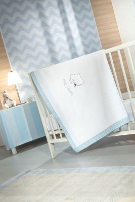 Κουβέρτα Lapin Blue Πικέ 110x150