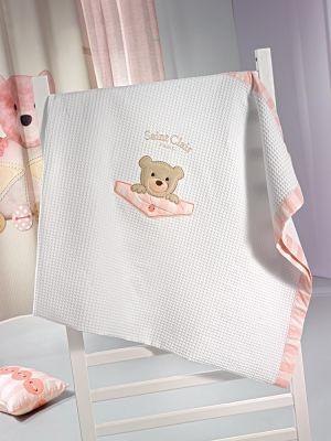 Κουβέρτα Teddy Rose Πικέ 110x150