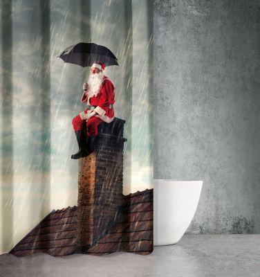 Χριστουγεννιάτικη Κουρτίνα Des 401 180x200