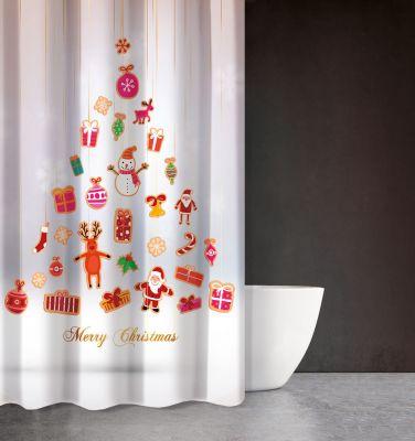 Χριστουγεννιάτικη Κουρτίνα Des 402 180x200