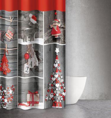 Χριστουγεννιάτικη Κουρτίνα Des 403 180x200