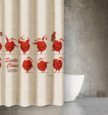 Χριστουγεννιάτικη Κουρτίνα Des 404 180x200