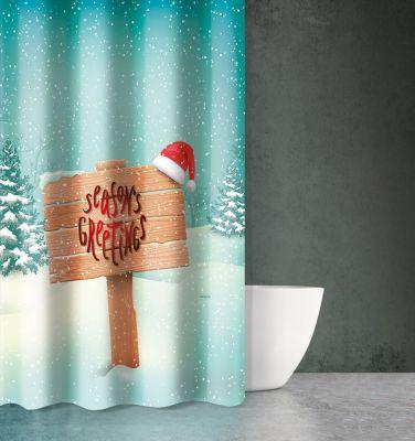 Χριστουγεννιάτικη Κουρτίνα Des 405 180x200
