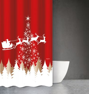Χριστουγεννιάτικη Κουρτίνα Des 407 180x200
