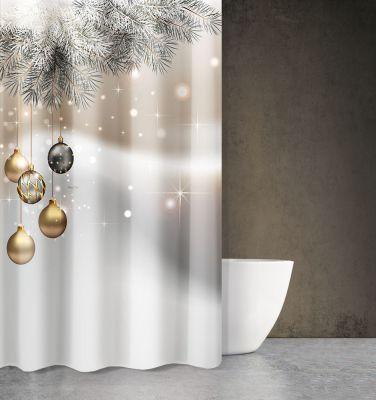 Χριστουγεννιάτικη Κουρτίνα Des 408 180x200