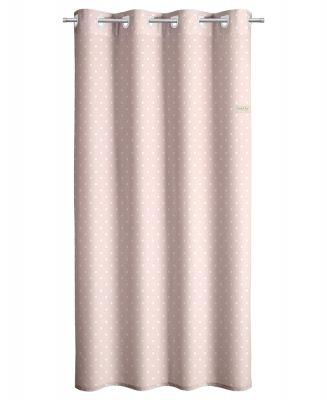 Κουρτίνα Polka Dots Pink 165x250 Soft Touch