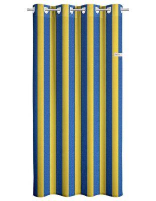 Κουρτίνα Lemon Blue Stripes 165x250 Soft Touch